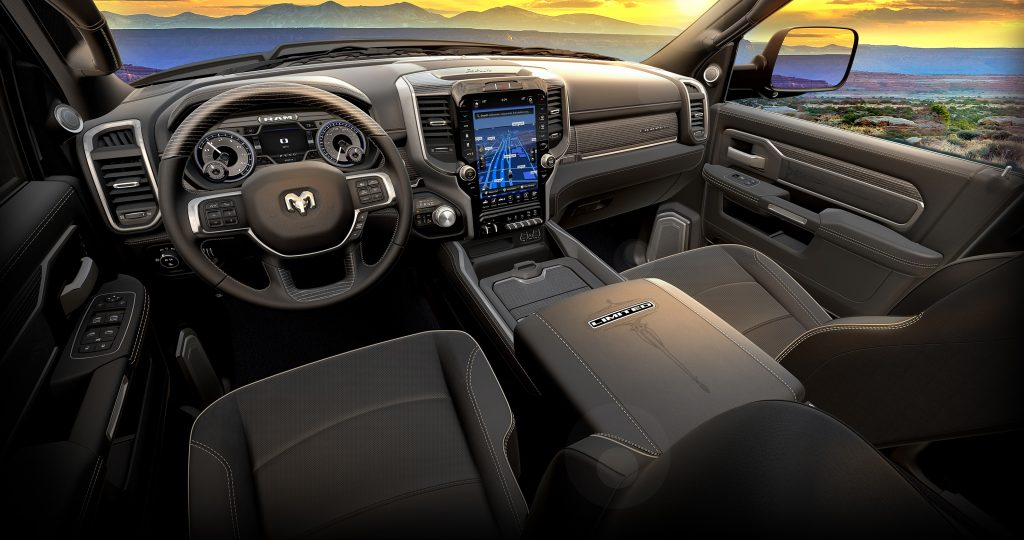 RAM black edition interior