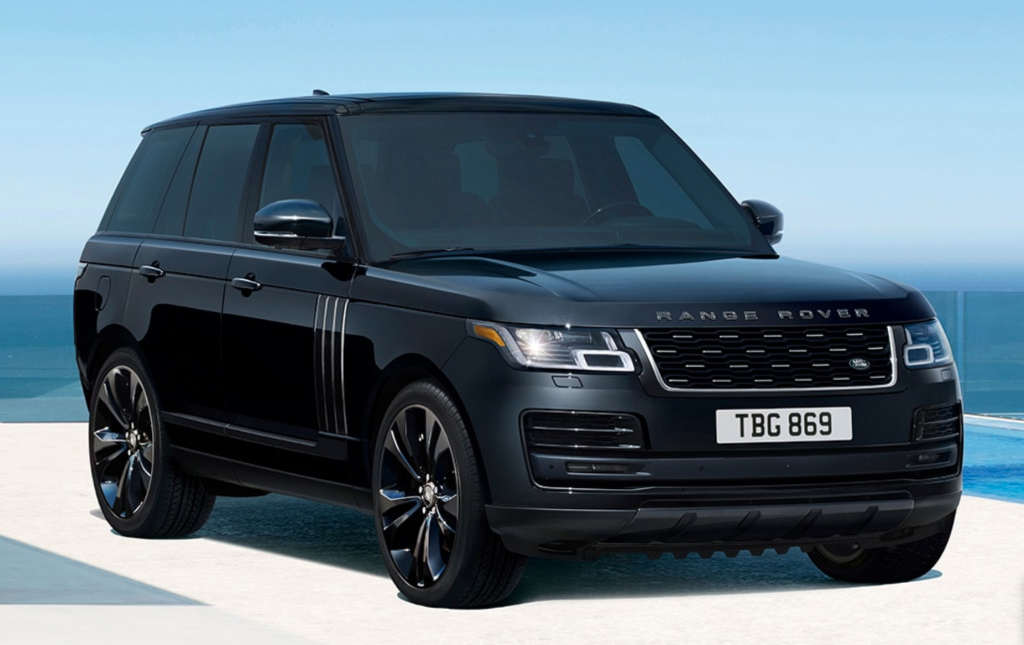 2021 Range Rover SVAutobiography Black Edition parked near the beach