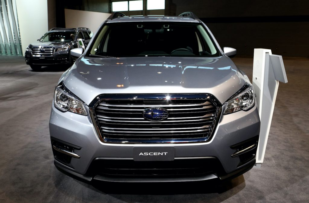 A silver 2019 Ascent on display at the 111th Annual Chicago Auto Show at McCormick Place