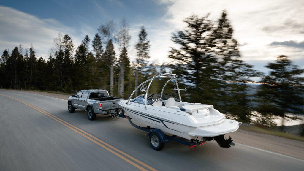 2020 Toyota Tacoma hauling a boat
