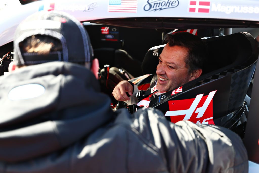 Tony Stewart during demonstration run at F1 grand prix in Austin