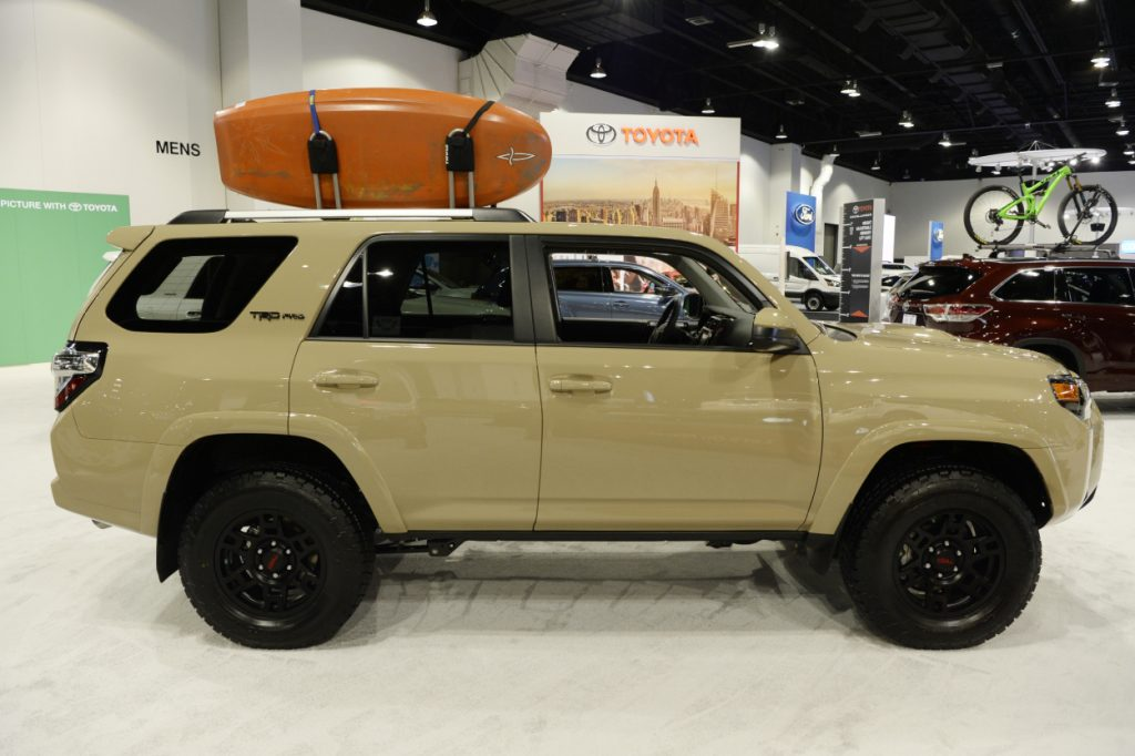 A Toyota 4Runner TRD Pro on display