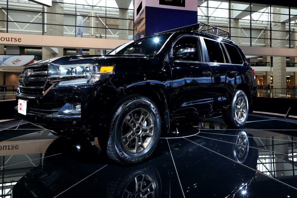 2020 Toyota Land Cruiser Heritage Edition is on display at the 111th Annual Chicago Auto Show
