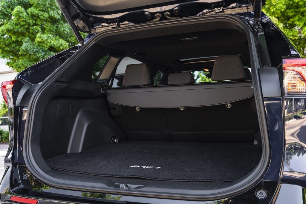 Trunk area of the 2021 Toyota RAV4 Prime