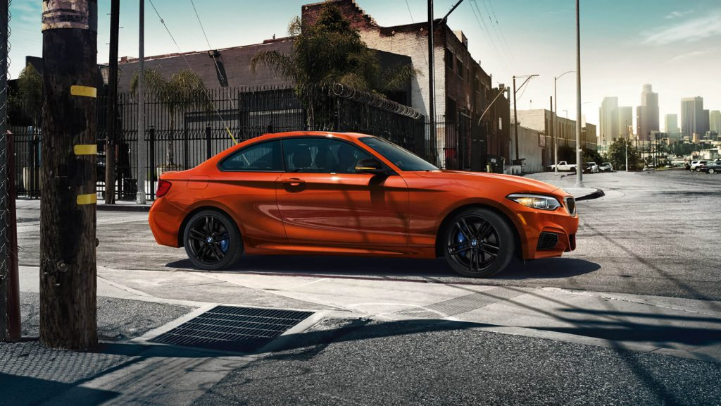 The BMW M240i in Sunset Orange Metallic is ready for anything.