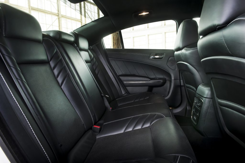 rear seat of charger hellcat redeye