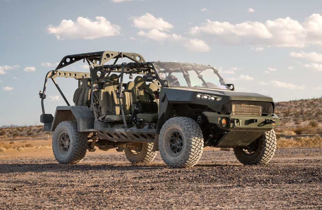 GM Infantry Squad Vehicle that is based on the Chevy Colorado