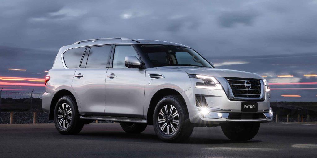 2020 Nissan Patrol parked at dusk