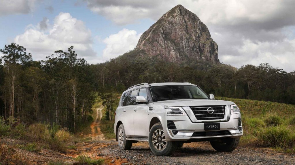 2020 Nisan Patrol off-roading through the outback