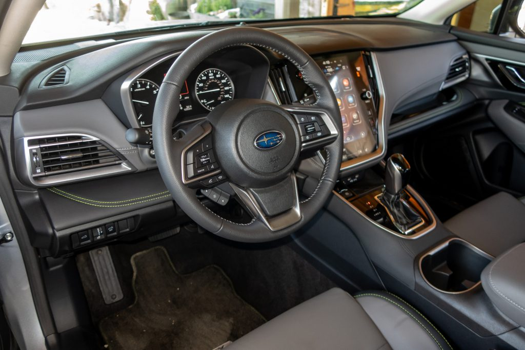 The 2020 Subaru Outback comes with a comfortable cloth interior.