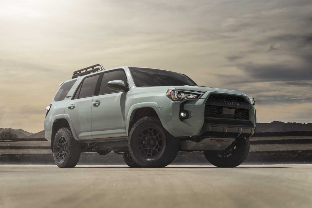 2021 Toyota 4Runner on display with new lunar paint color