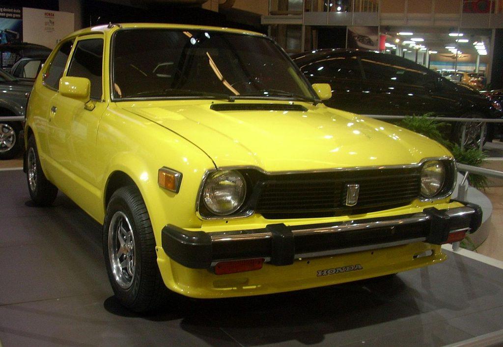 a yellow 1978 honda civic