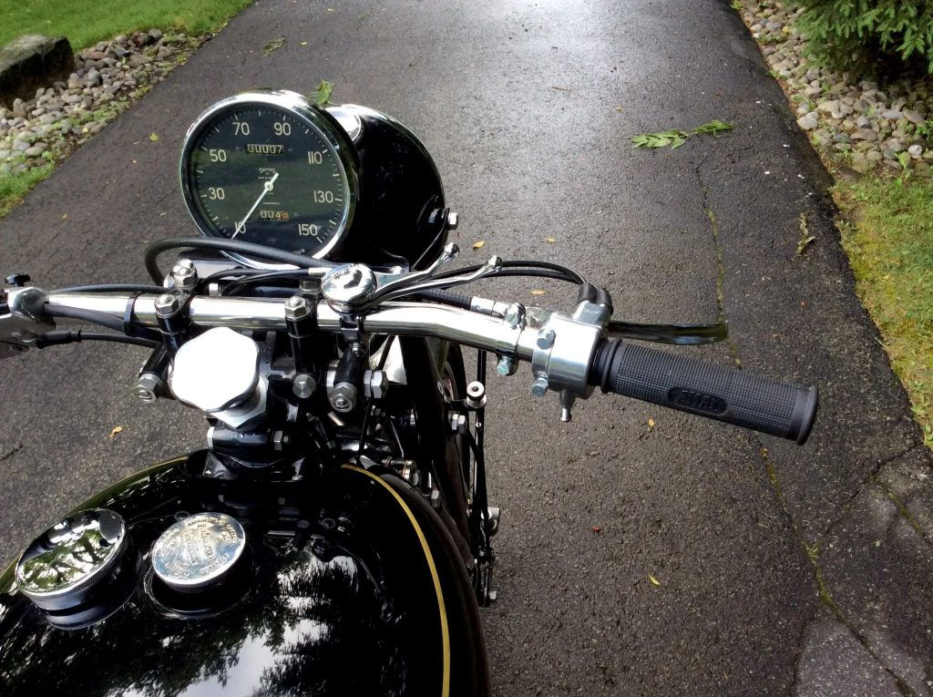 The 1953 Vincent Black Shadow Series C's 150-mph speedometer
