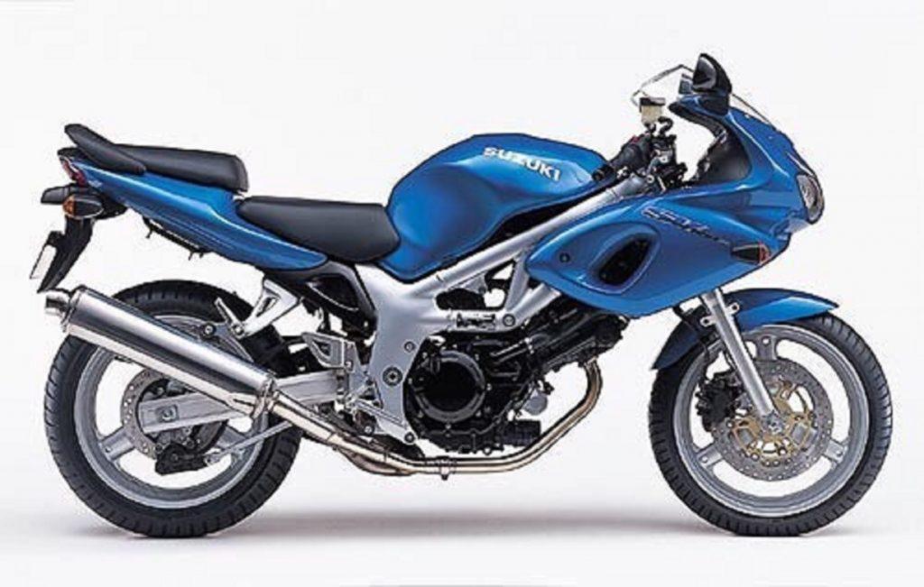 A blue 1st-gen Suzuki SV650