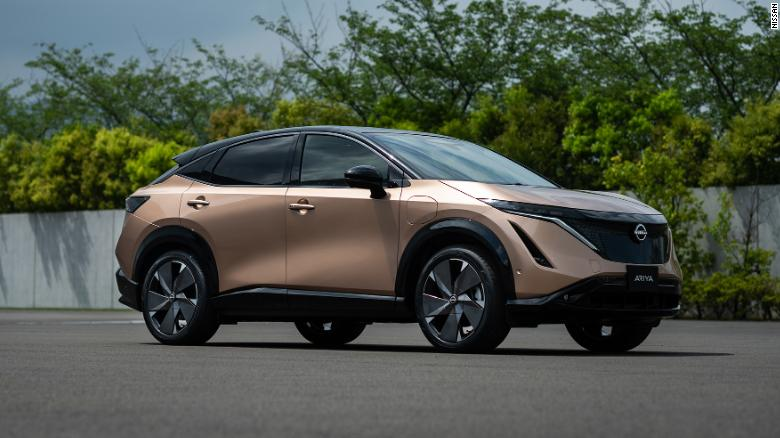 2021 Nissan Ariya parked on street