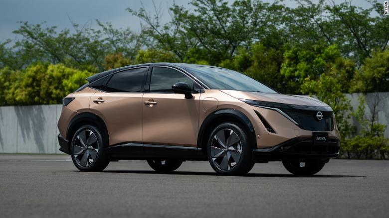 2021 Nissan Ariya parked on street