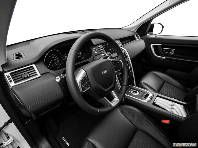 The Discovery Sport is clean and ordinary on the inside.