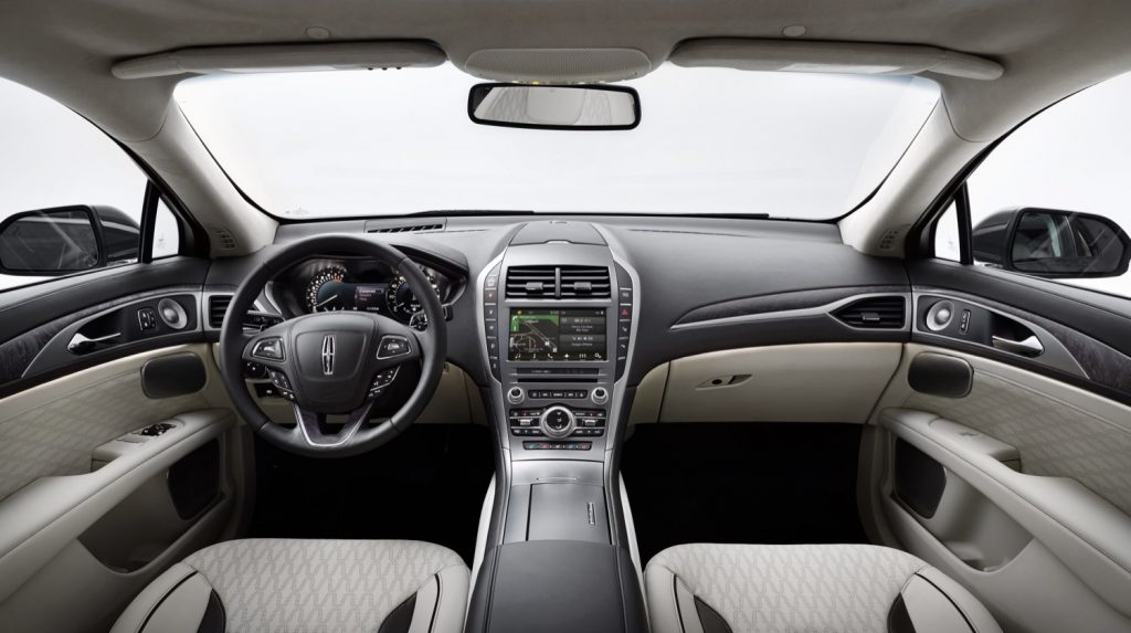 The Lincoln MKZ has a simple and elegant interior.