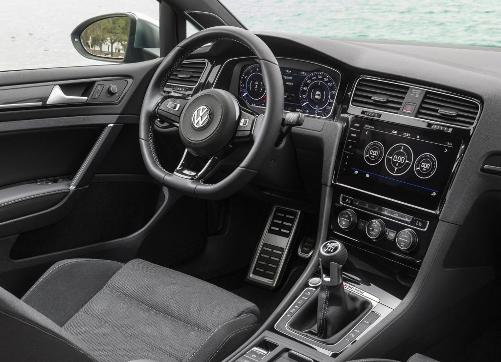 The 2017 Volkswagen Golf R's interior