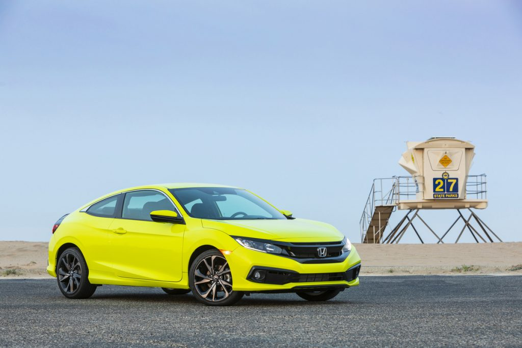 2020 Honda Civic Coupe Sport on the beach