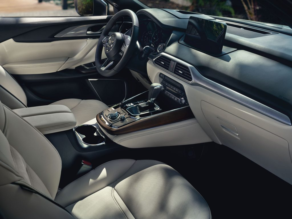 interior Mazda CX-9 cabin is plush and luxurious among the three-row crossover segment