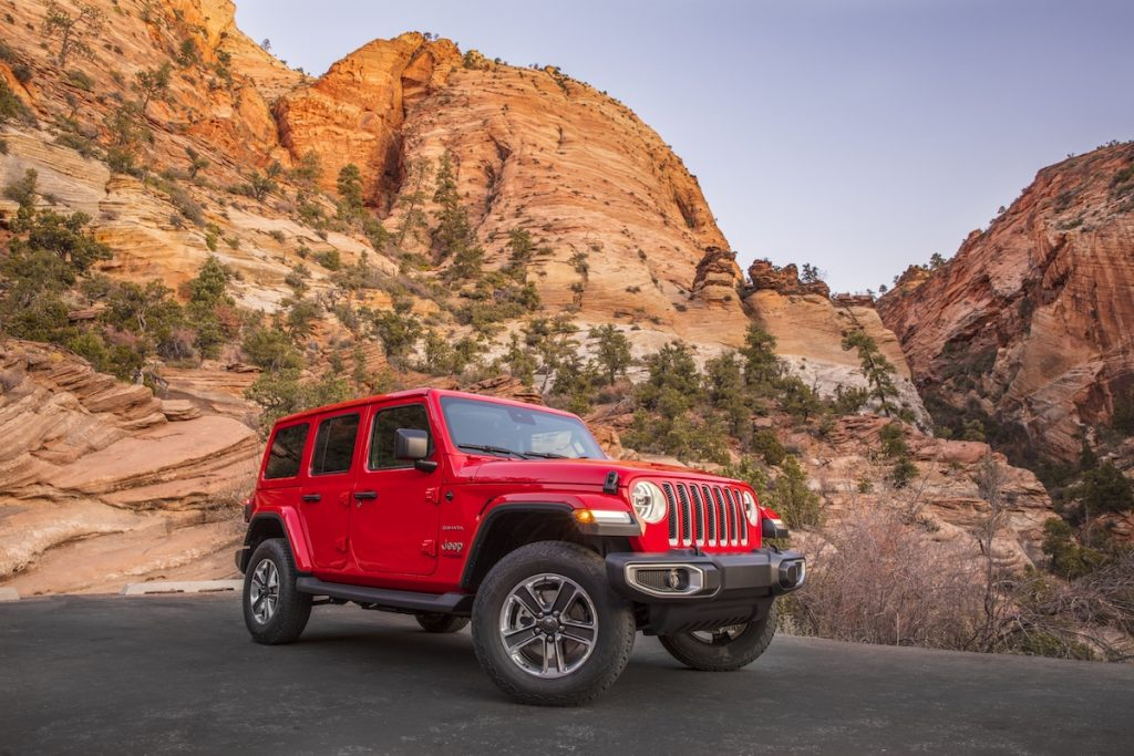 2020 Jeep Wrangler Sahara EcoDiesel in the canyons