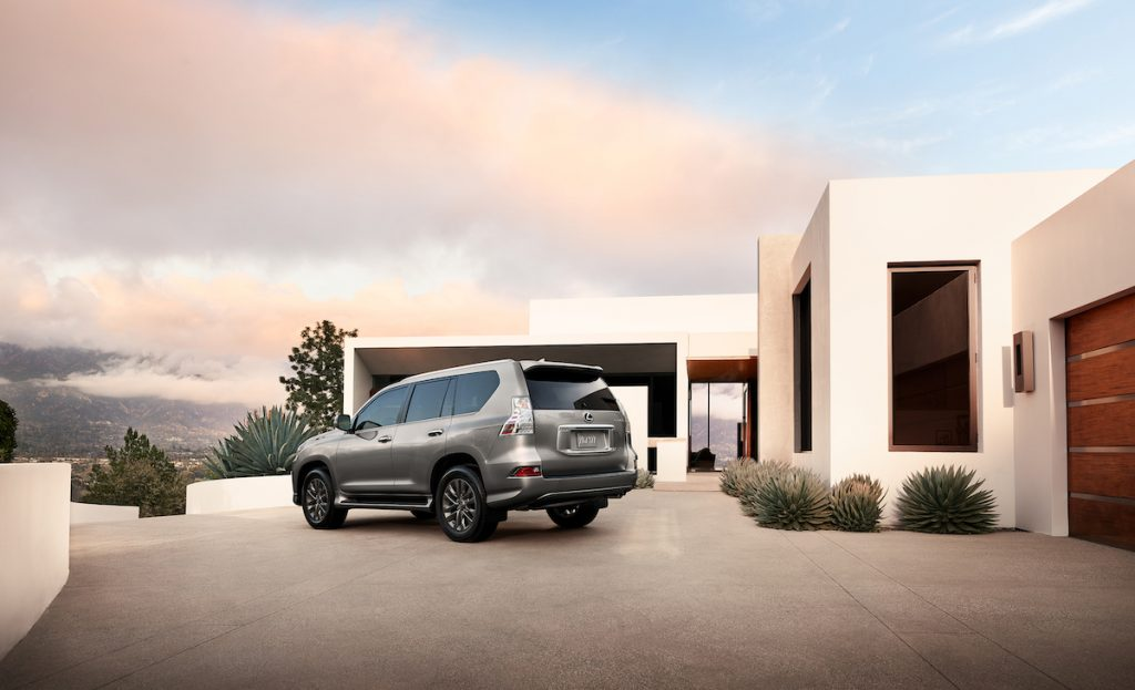 2020 Lexus GX parked in front of a house