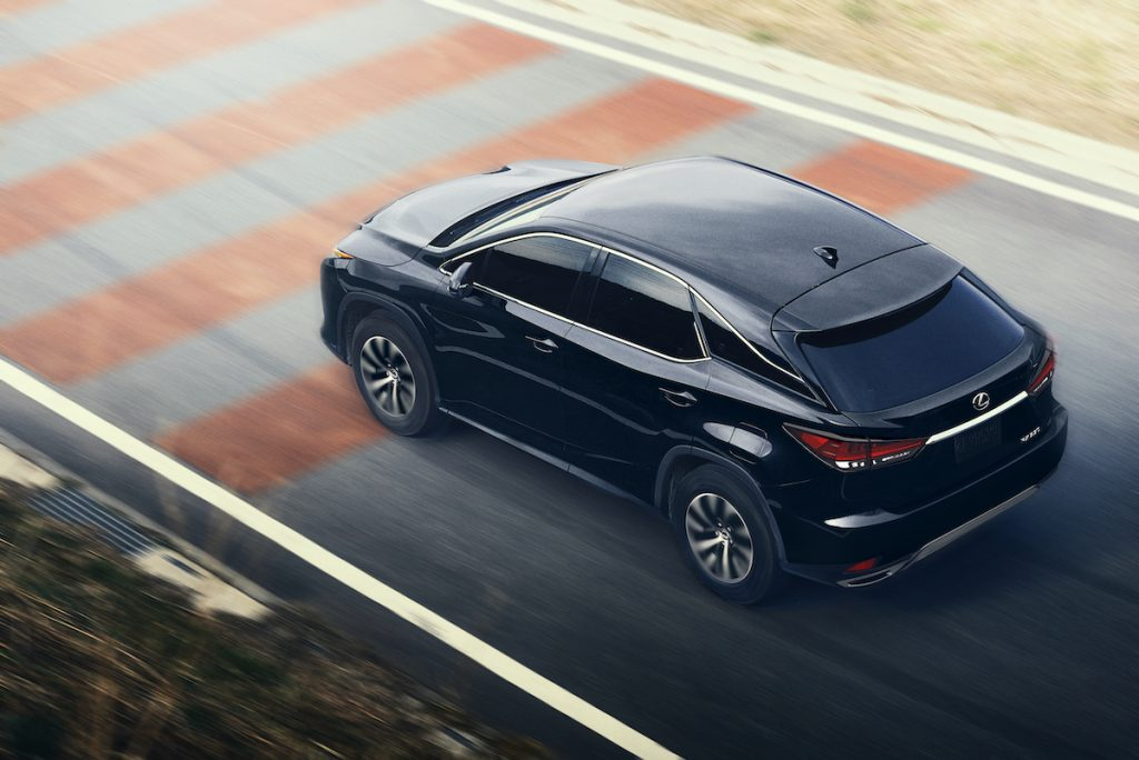 2020 Lexus RX driving on the road