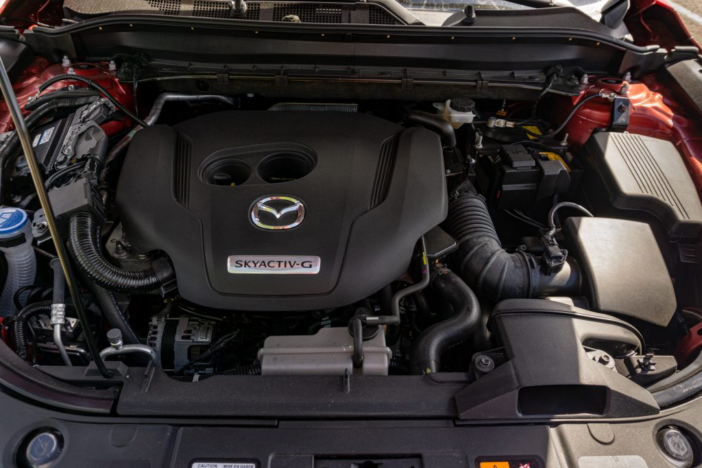 The 2020 Mazda CX-5 Signature AWD's engine