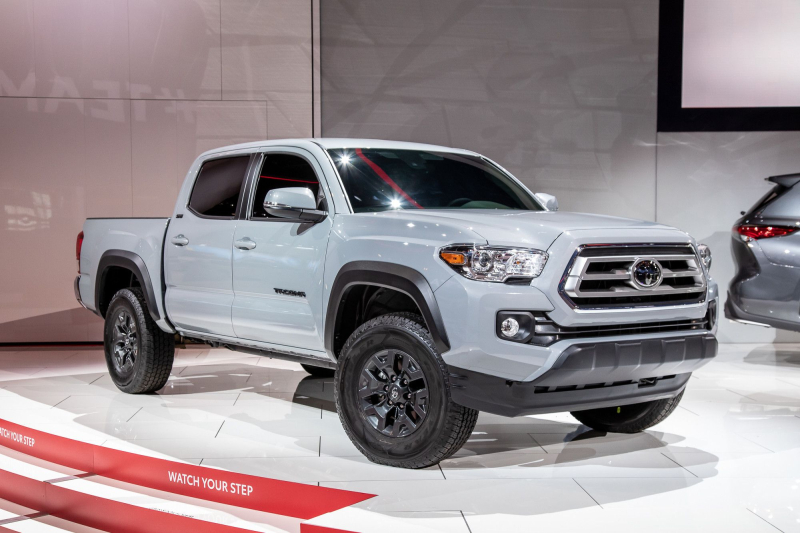 2021 Toyota Tacoma on display