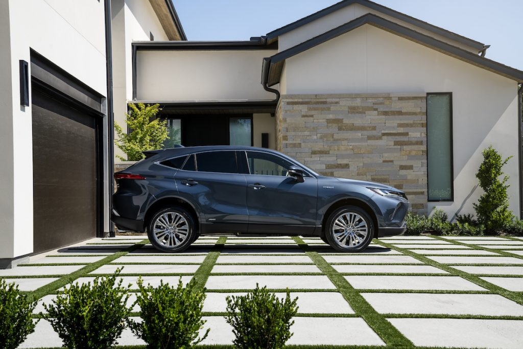 2021 Toyota Venza parked outside of a house