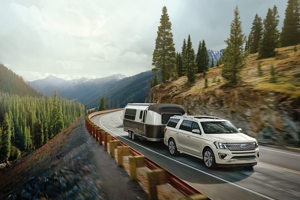 2020 Ford Expedition towing an RV