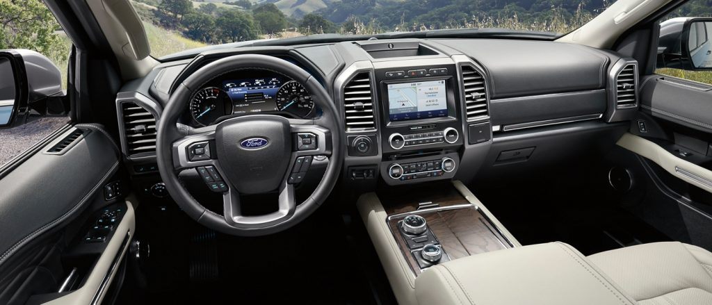 The inside of the Expedition feels stylish and upscale.