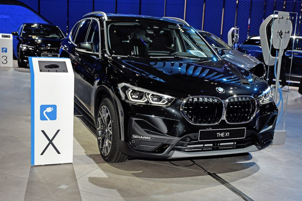The BMW X1 on display at the Brussels Motor Show