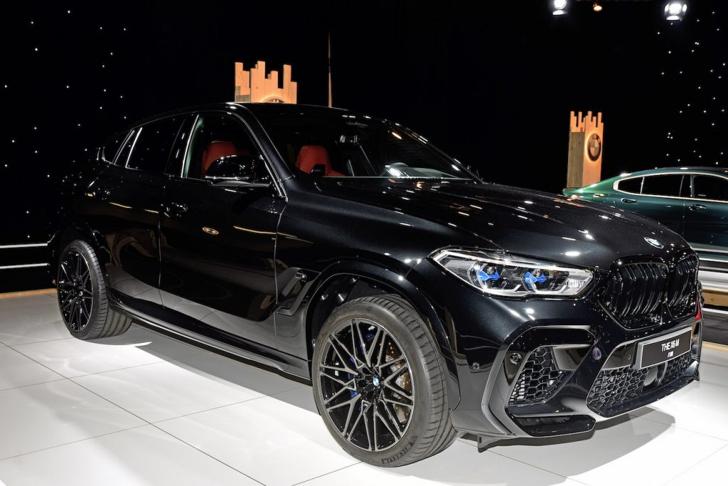 The BMW X6 M on display at the Dream Car exposition, which is part of the Brussels Motor Show