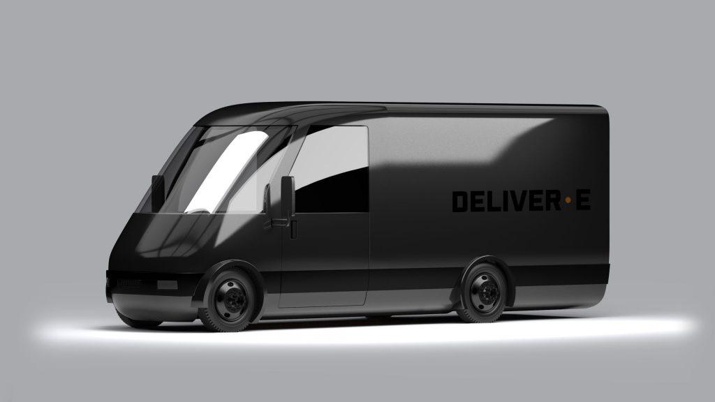 Bollinger's black Deliver-E delivery cargo van