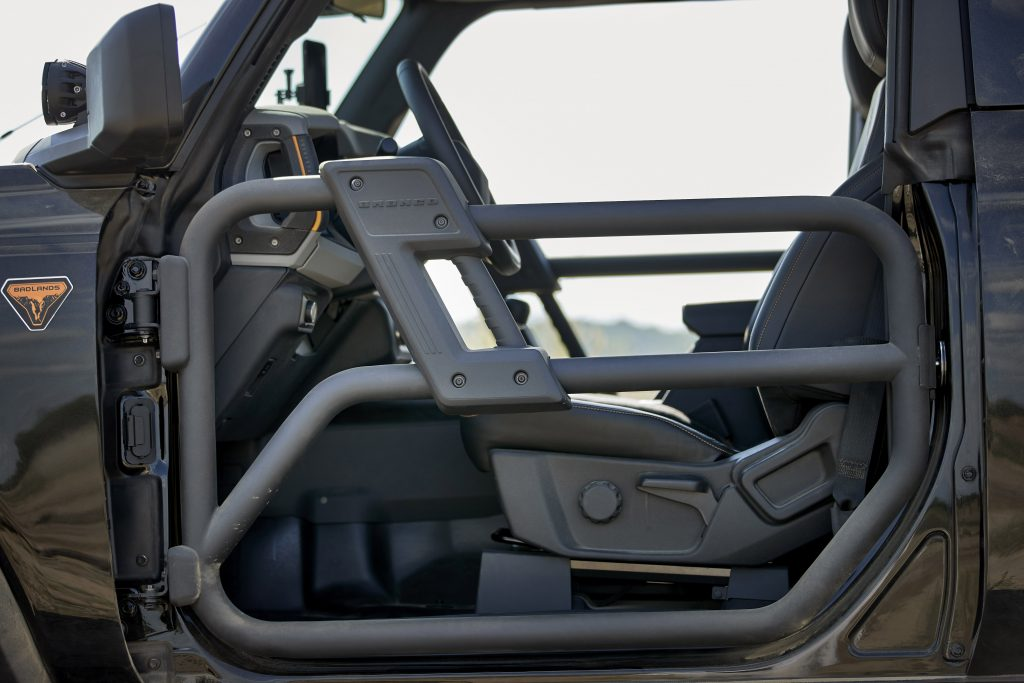 A view of the driver's side tube door for a 2021 Ford Bronco.