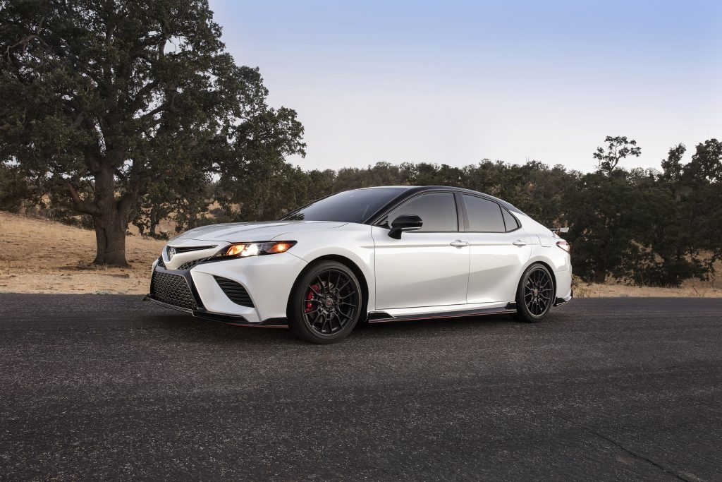 2020 Toyota Camry TRD in white