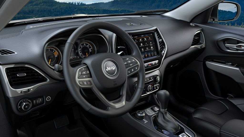 The Jeep Cherokee's interior is handsome and durable.