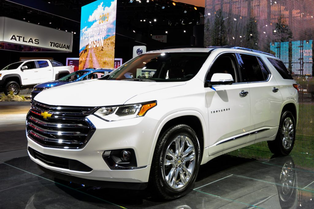 Chevrolet Traverse SUV seen at the New York International Auto Show