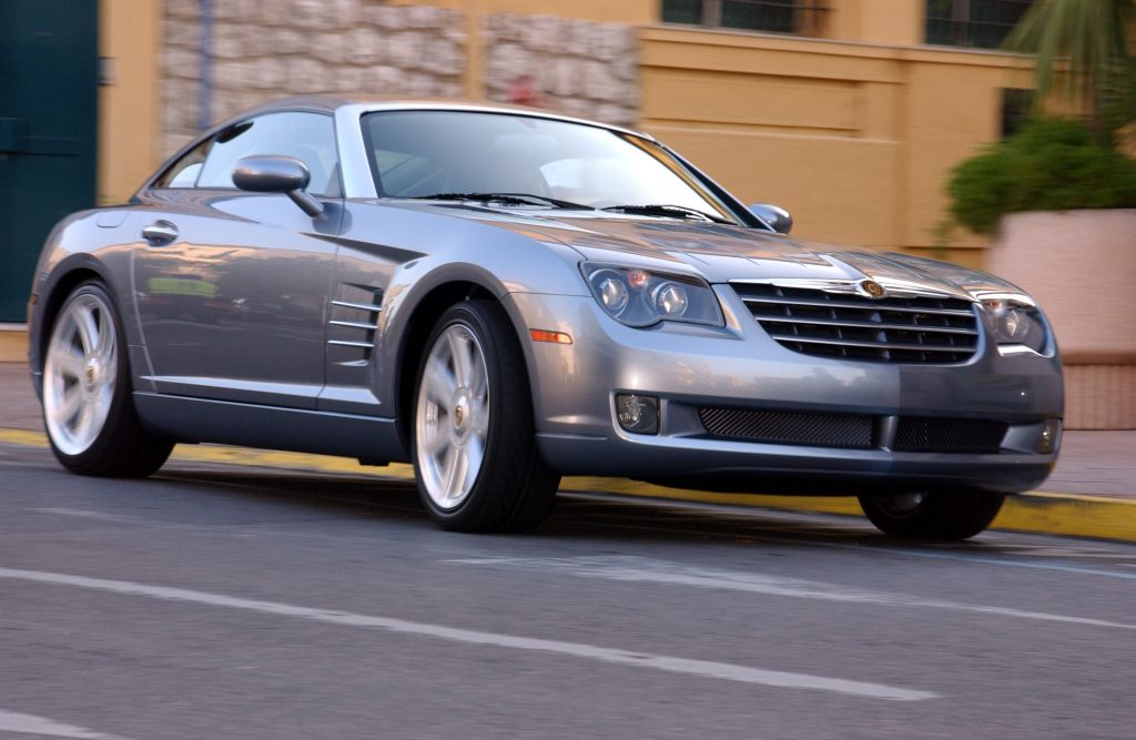 Chrysler Crossfire driving down the road