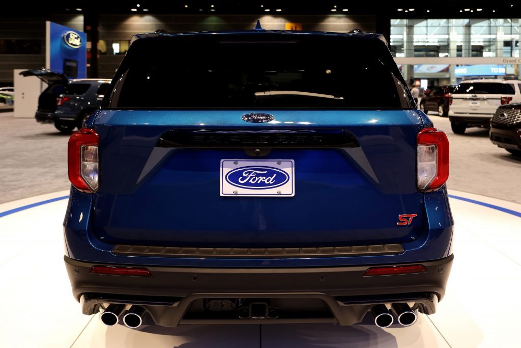 A Ford Explorer ST on display