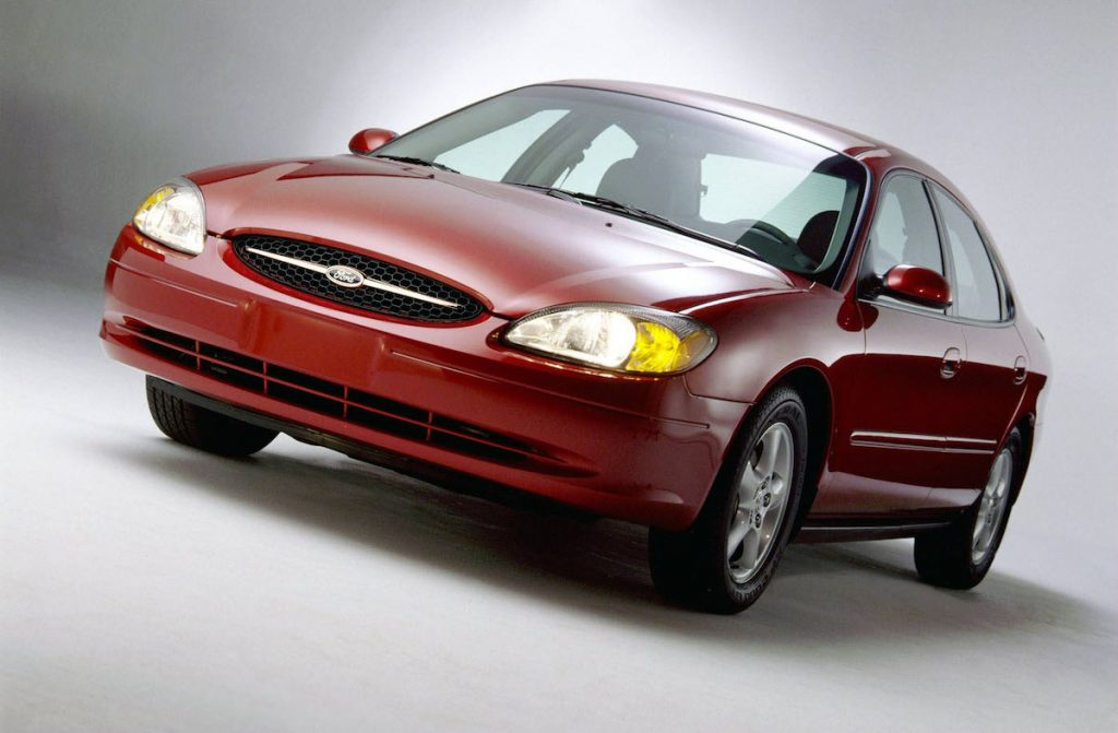 Red Ford Taurus