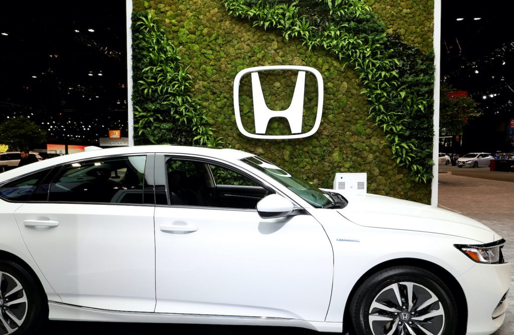 2020 Honda Accord Hybrid is on display at the 112th Annual Chicago Auto Show at McCormick Place