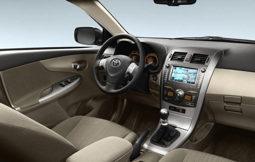 2007 Toyota Corolla interior view