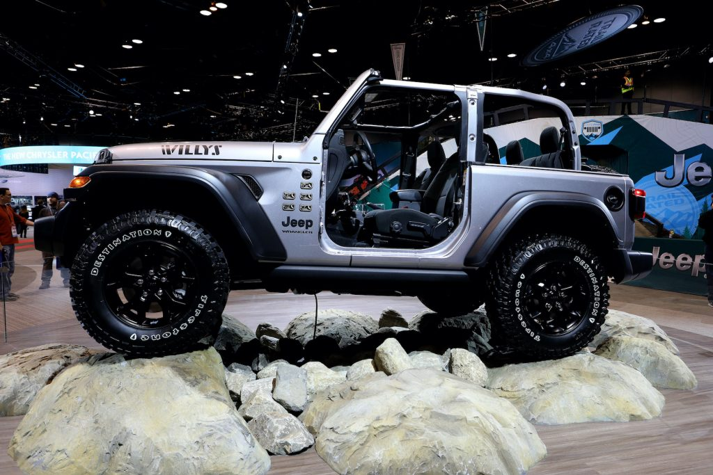 2020 Jeep Wrangler Willy, is on display at the 112th Annual Chicago Auto Show