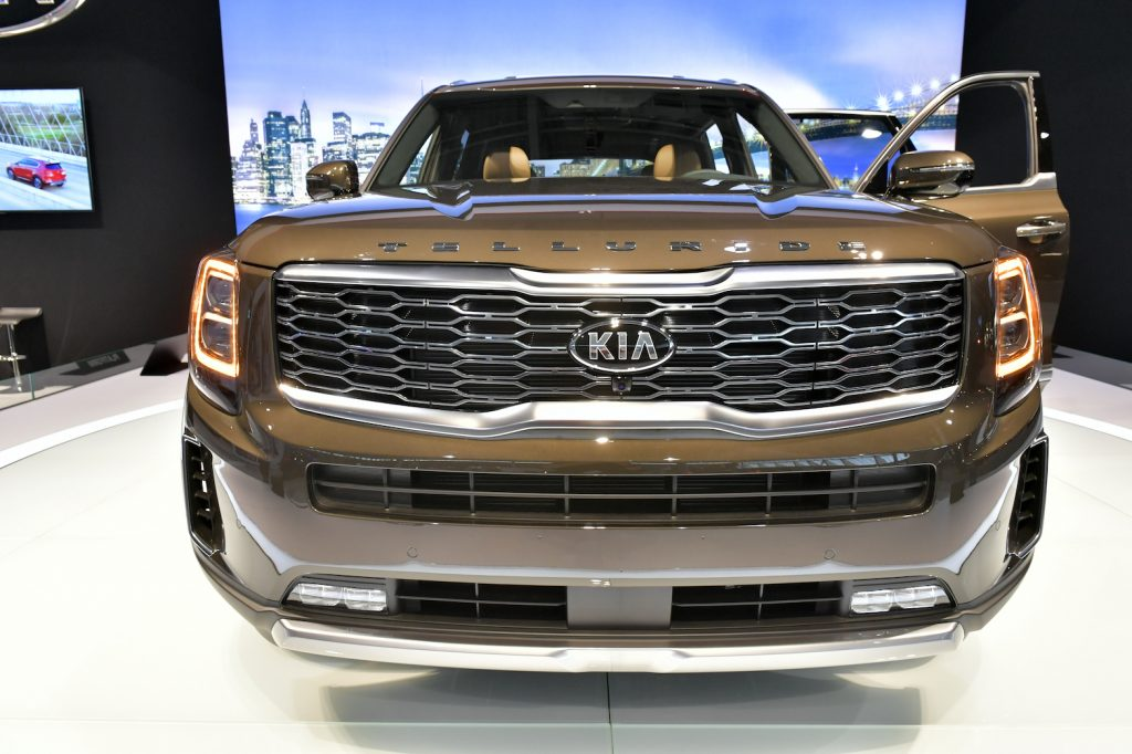 The KIA Telluride is seen at the 2020 New England Auto Show Press Preview at Boston Convention & Exhibition Center