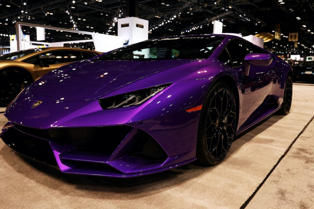Lamborghini Huracan Evo is on display at the 112th Annual Chicago Auto Show