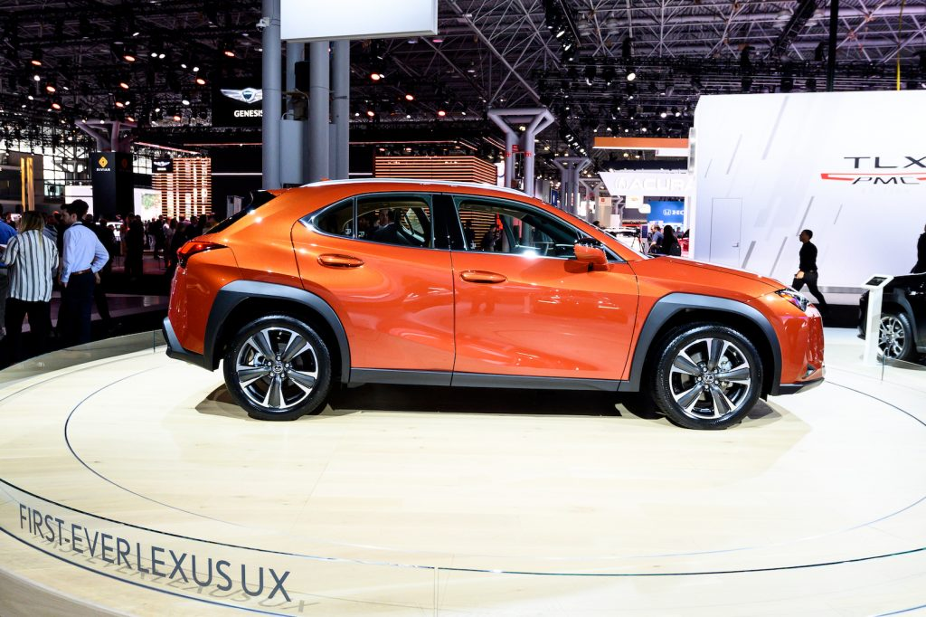 Lexus UX seen at the New York International Auto Show