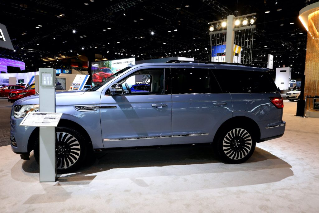 2020 Lincoln Navigator is one of the 2020 SUV models on display at the 112th Annual Chicago Auto Show at McCormick Place